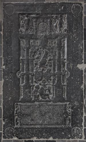 Floor slab of Jacob Willemsz. van der Mije, Agatha Buijs, and their son Willem van der Mije