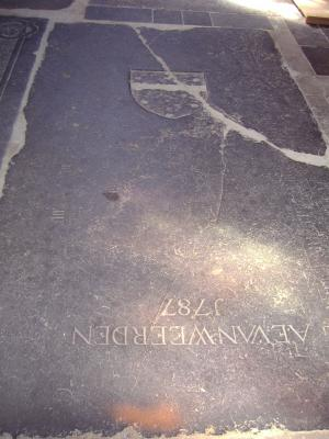 Floor slab of an unknown person and A.E. van Weerden