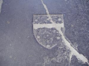 Floor slab of an unknown person and A.E. van Weerden, centre