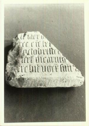 Fragment of a floor slab(?) of an unknown person and an unknown priest