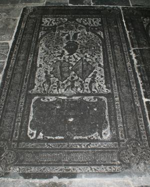 Floor slab of Tjerck van Walta (alias Jongema) and Tieth van Herema