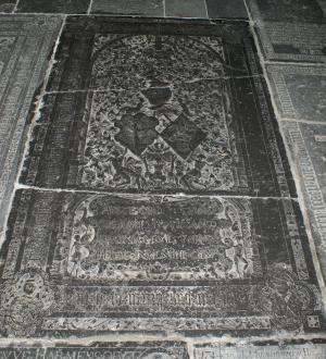 Floor slab of Catharina van Cammingha (and Tjaard van Juwinga (Jongema))
