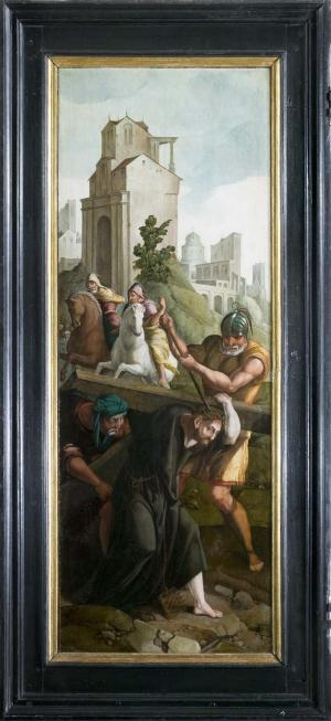 Christ carrying the Cross (interior left wing)