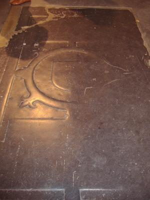 Floor slab of Huberecht (?) and possibly other persons