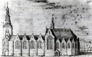 Gouda, St John the Baptist's Church before the fire of 1552