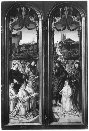 Devotional portraits of the Pauw and Sas families (interior wings)