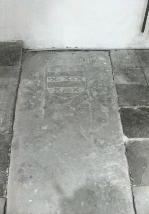 Sarcophagus lid of unknown person(s); floor slab of Jan van Hout