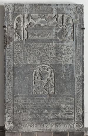 Floor slab of Johannes Fogelsang and Mary Bauckes, and family