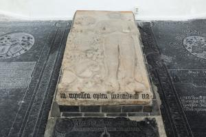 Tomb slab of Christoff Karls Köppener, inscription lower side