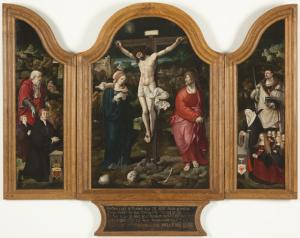 Crucifixion with devotional portraits of the Kanis-Van Houweningen family ('The Kanis triptych')