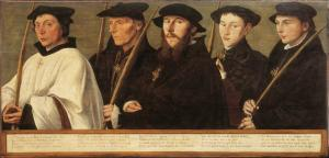 Five members of the Utrecht Confraternity of Jerusalem Pilgrims