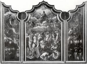 Last Judgement with devotional portraits of the Van Montfoort-Van Lindenburg family