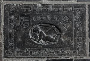 Floor slab of Helena Heymans and her brother