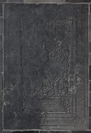 Floor slab of Wytze van Cammingha, Rints van Minnema and Sjouck van Cammingha