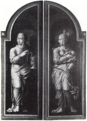 SS John the Evangelist and Margaret (closed state)