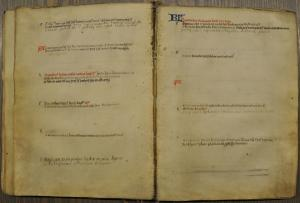 Calendar of memorial services of the convent 'Mariaweide' (ff. 24v-25r)