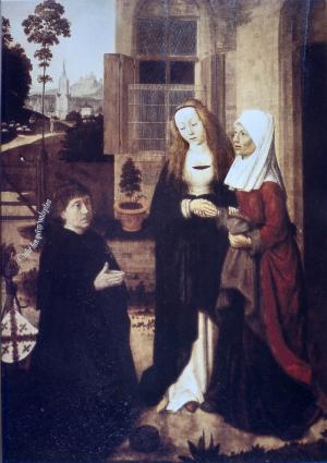 Visitation with devotional portrait of Jan Willem Jansz.