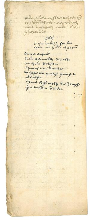 List of deceased members, 1565