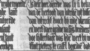 Older text below the current text (detail of panel 5)