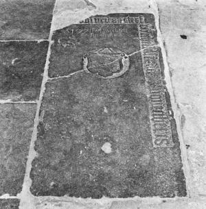 Floor slab of Wijer Hesselsen and his wife Mechtelt