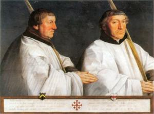 Two members of the Utrecht Confraternity of Jerusalem Pilgrims