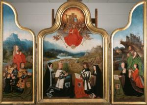 Last Judgement with devotional portraits of the Van Noordwijk family (opened state)