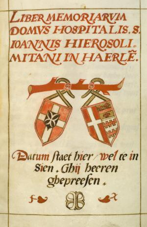 Liber memoriarum of the convent of St John, Haarlem