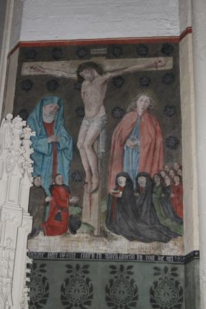 Crucifixion with devotional portraits of the Van de Wiel-Van Driel family
