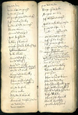 Memoiral register of the confraternity of St Anthony (pp. 40-41): list of deceased members