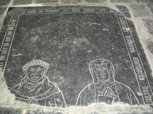 Floor slab of Maddeleene Kerstiaens Alverdoensdr. and her husband