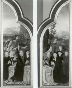 Devotional portraits of the Van Hogesteyn family (interior wings)