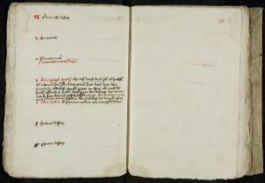 Calendar with notes about pittances to the sick, Leprosy House, Leiden: entry for All Saint's Day