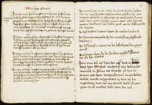 Coster boeck of Mariënpoel Monastery (pp. 44-45): notes about the consecration of altars, and list of graves