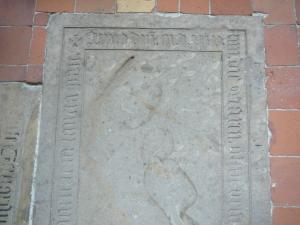 Floor slab of Theodricus Hardenberch; upper half