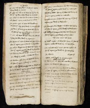 Book of death of the Hospital of St Catharine in Leiden (ff. 1v-2r)