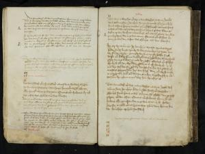 Register of memorial services of the Hospital of St Catherine in Leiden (ff. 14v-15r: July)