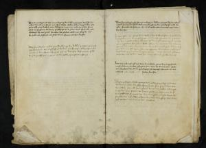 Register of memorial services of the Hospital of St Catherine, Leiden, ff. 9v-10r