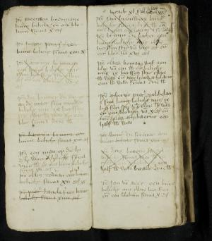 Book of lights of the Hospital of St Catherine, Leiden, ff. 9v-10r