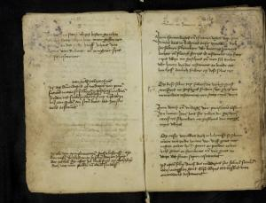 Book of pittances of the Hospital of St Catherine, Leiden, ff. 5v-6r