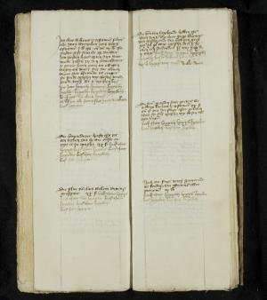 Register of rents of the Hospital of St Catherine, ff. 16v-17r: 1485-1489