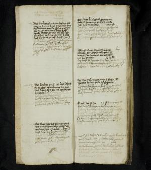 Register of rents of the Hospital of St Catherine, ff. 2v-3r: 1489-1499