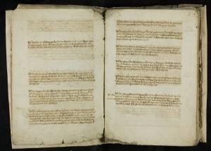 Liber fundationum of the Church of Our Lady, Leiden, ff. 1v-2r