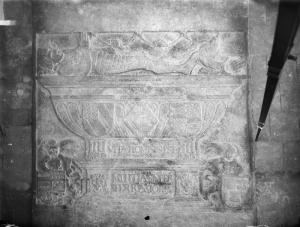 Floor slab of Frans van Nijenrode