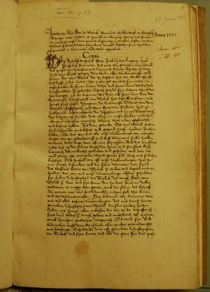 Register of the Monastery of the Crutched Friars Sint Agatha, f. 8r: testament of Otto van Wylack