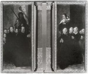 Devotional portraits of the family of Claes Alewijn Claesz. and Anna Cornelisdr. van der Hooch (front)