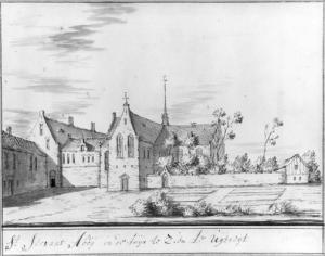 Utrecht, St Servatius's Abbey (drawing by J. Stellingwerf, ca.1725)