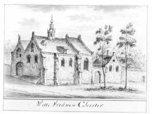 Utrecht, Wittevrouwen Convent (drawing of J. Stellingwerf, ca.1725, after an unknown example from ca.1600)