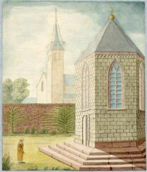 Utrecht, Jerusalem Chapel (drawing by M.L.M. d'Yvoy, 1840, according to the situation before 1581)