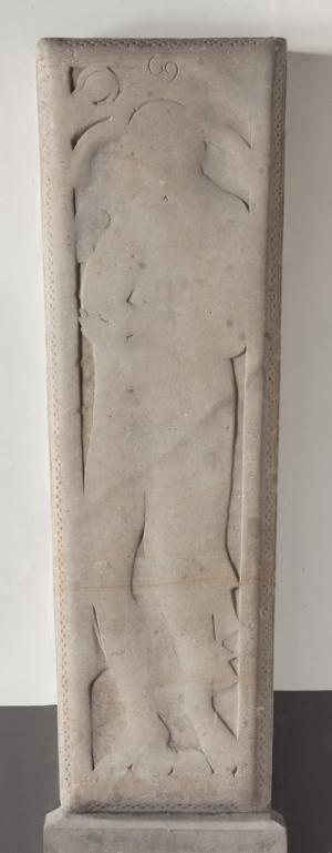 Sarcophagus lid or floor slab of an unknown man