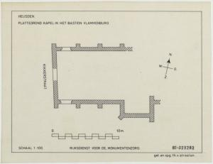Heusden, map of Our Lady's Chapel